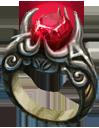 Ring red diamond