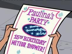 S02e01 Paulina's Party flier