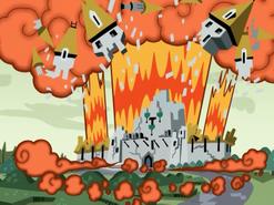 S01e19 Vlad's castle explodes