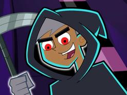 S01e20 Danny grim reaper with scythe