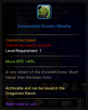Venomshell Drones Whistle