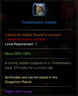 Tinderhawks Saddle