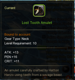 Lost Tooth Amulet