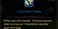 Gone Fishin' Badge