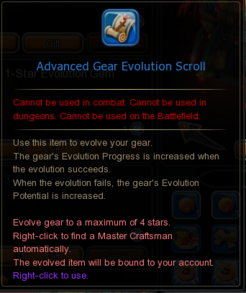 Advanced Gear Evolution Scroll
