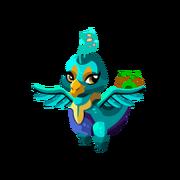 Blue Peacock Juvenile