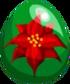 Poinsettia Egg