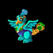 Blue Peacock Adult