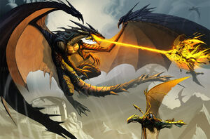 Darkness Dragon Being Attacked