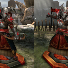 Tiers of a Red Templar Archer in <i>Heroes of Dragon Age</i>