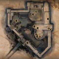 Skyhold Upper Level Map