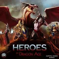 The original poster for <i>Heroes of Dragon Age</i>