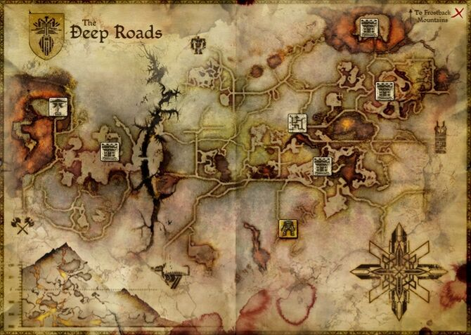Map - Deep Roads