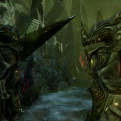 Dragon statues