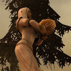 A statue of Sylaise in a Dalish camp.