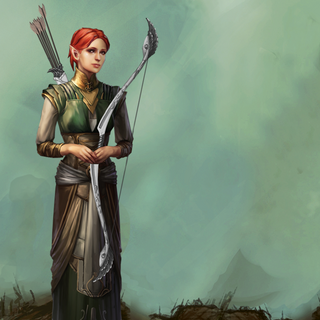 Artwork of Shianni from Heroes of Dragon Age