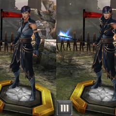 Tier evolution of a Tevinter Arcane Mage from <i>Heroes of Dragon Age</i>