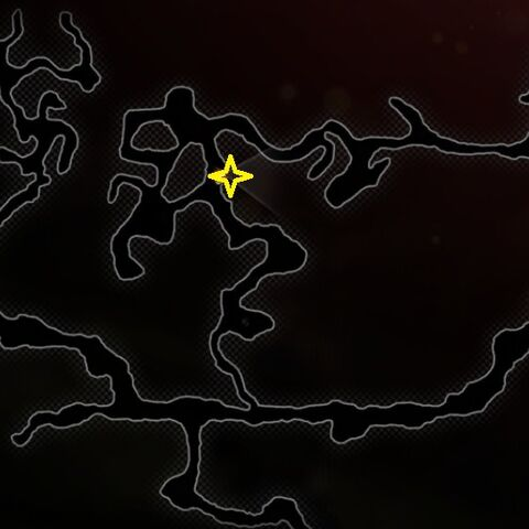 Location of the Dank Cave in The Wounded Coast
