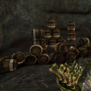 Barrels inside the caves