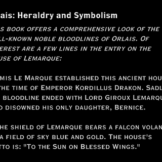 A book on Orlesian Heraldry