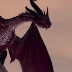 Flemeth's High dragon form in <i>Dragon Age II</i>