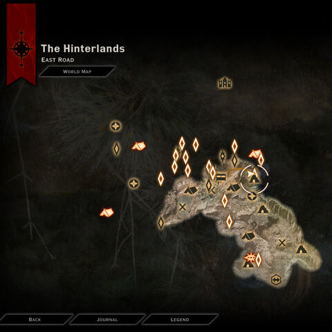Position of Mihris in The Hinterlands