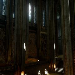 The interior of the Sanctuary