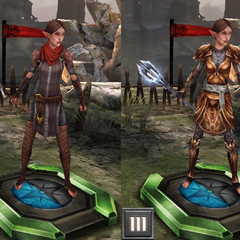 Merrill's tiered evolution in <i>Heroes of Dragon Age</i>