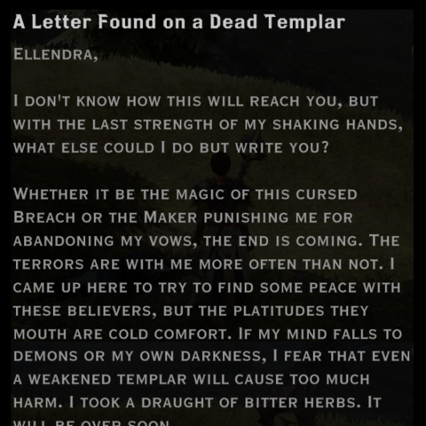 The text of Mattrin's letter