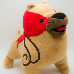 A plush toy of a mabari