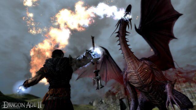 File:Hawke fighting a dragon.jpg