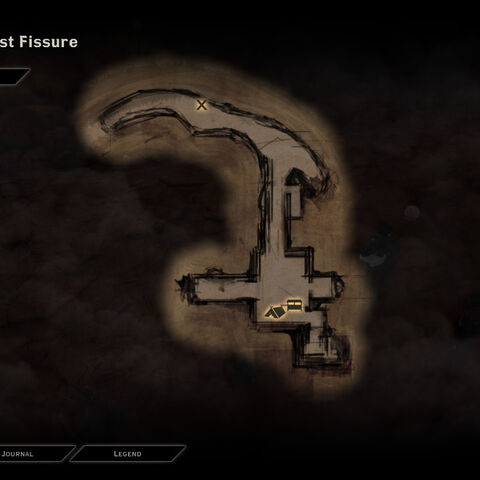 Map of the Storm Coast Fissure