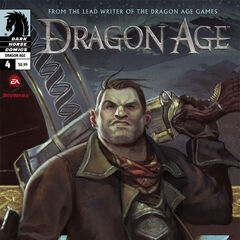 Varric on the fourth issue's cover