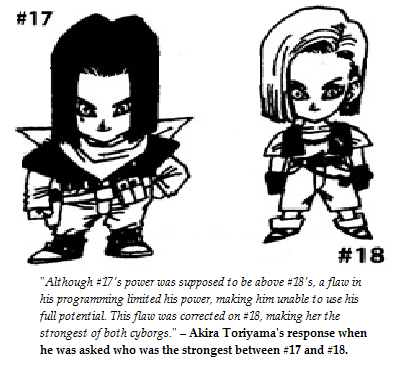 File:Toriyama's statement about 17 and 18's power.png