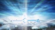 Goku and Krillin's Kamehameha struggle Super