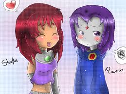 File:Teen titans Starfire and raven.jpg
