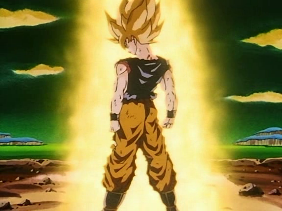 File:Goku becomes a Super Saiyajin for the first time!.png