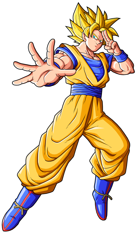 Imagen  Goku SSJ renderpng  Dragon Ball Wiki  FANDOM powered