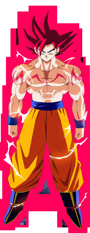 Imagen  Goku ssj dios render 3png  Dragon Ball Wiki  FANDOM