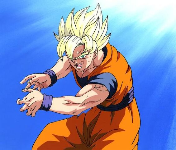 File:Super Saiyan Goku charging up a Kamehameha.jpg