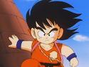 Goku looking heroic