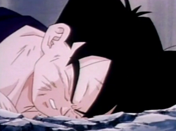 File:Gohan fells to ground dead and defeated after being killed by turles in plan to eadacte the saiyans7.png