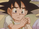 Goku Jr. Crying and Grasping Hand