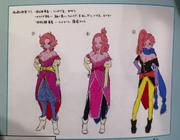 DBXV Concept Art Chronoa - Supreme Kai of Time (unused adult designs)