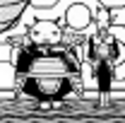 A DXRD resize of 2 PTO soldiers next to Frieza (Dragon Ball Minus)