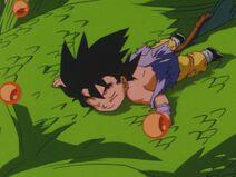 Goku leaves with Shenron