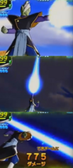 Zamasu using Heavenly Arrow in Dragon Ball Heroes.