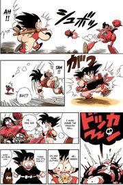 Goku destroys the Pilaf Machine and retrieves the Dragon Ball