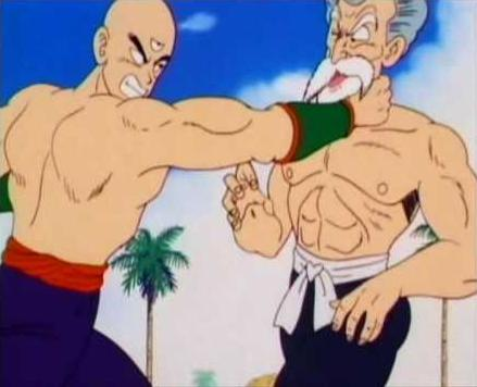 File:Master Roshi (on the right) in his 50 % max power form.jpg