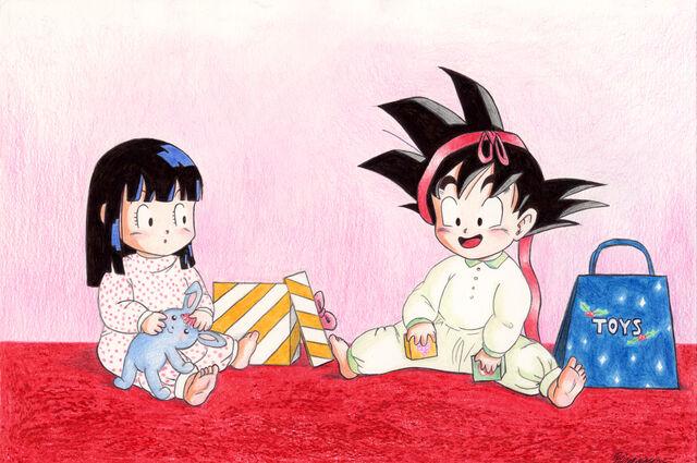 File:Baby Goku and Chi-Chi at X-mas.jpg